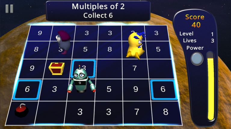 Screenshot of Number Delver gameplay